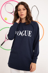 Vogue Baskılı Sweat Tunik Lacivert
